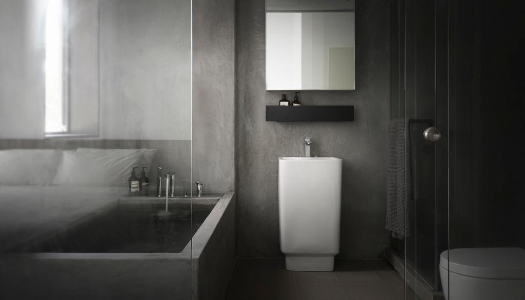 Industrial, Condo, Bathroom, J Studio, Architect, 0932 Design Consultants, Indoors, Interior Design, Room, Toilet