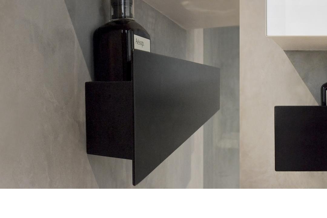 J Studio, 0932 Design Consultants, Industrial, Bathroom, Condo, Bath Rack, Bath Storage, Toiletry Holder, Coffee Table, Furniture, Table