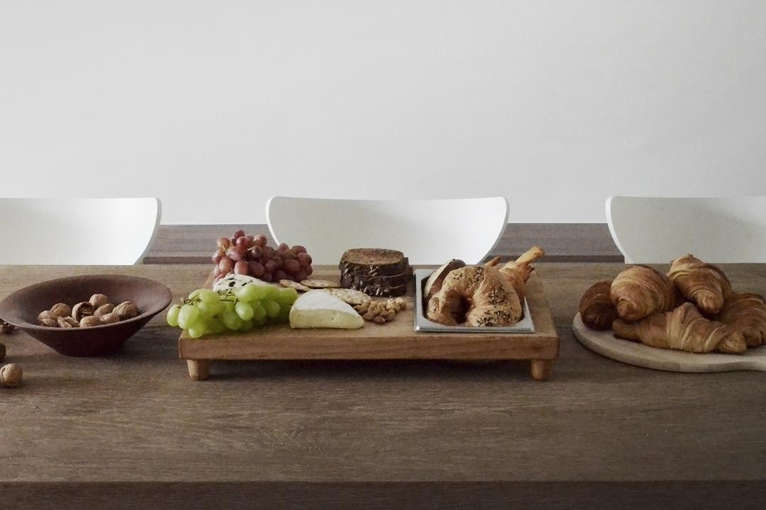 J Studio, 0932 Design Consultants, Industrial, Dining Room, Condo, Bread, Croissant, Food, Bowl