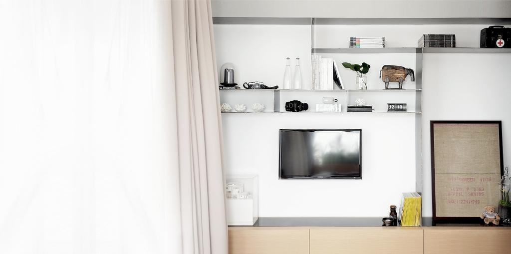 Minimalistic, Condo, Living Room, TT Apartment, Architect, 0932 Design Consultants