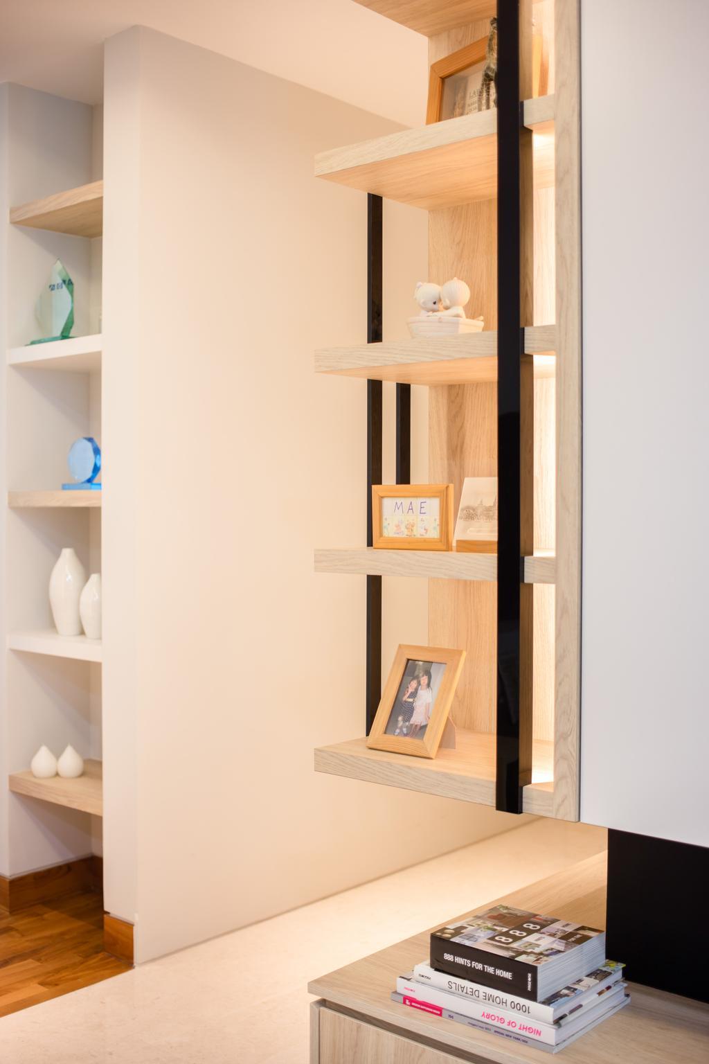 Minimalistic, Condo, Living Room, Sennett Residence, Interior Designer, Anhans Interior Design, Shelf