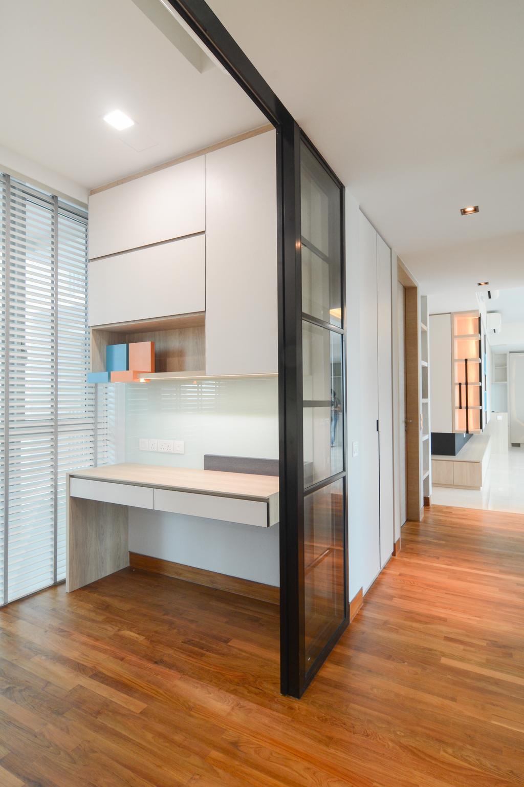 Minimalistic, Condo, Study, Sennett Residence, Interior Designer, Anhans Interior Design, Indoors, Interior Design