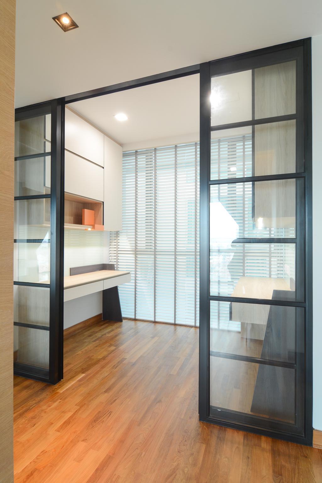 Minimalistic, Condo, Study, Sennett Residence, Interior Designer, Anhans Interior Design