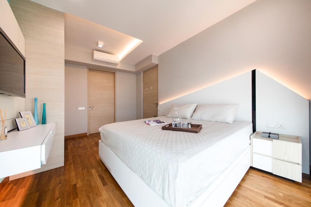 Minimalistic, Condo, Bedroom, Sennett Residence, Interior Designer, Anhans Interior Design, Indoors, Interior Design