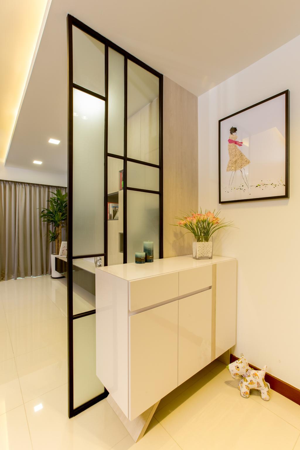 Contemporary, HDB, Living Room, Compassvale Drive (Block 217A), Interior Designer, Anhans Interior Design, Flora, Jar, Plant, Potted Plant, Pottery, Vase
