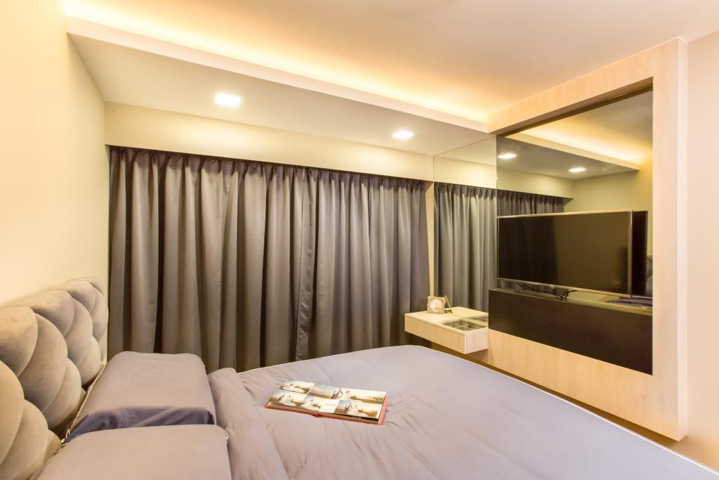 Contemporary, HDB, Bedroom, Compassvale Drive (Block 217A), Interior Designer, Anhans Interior Design, Indoors, Room