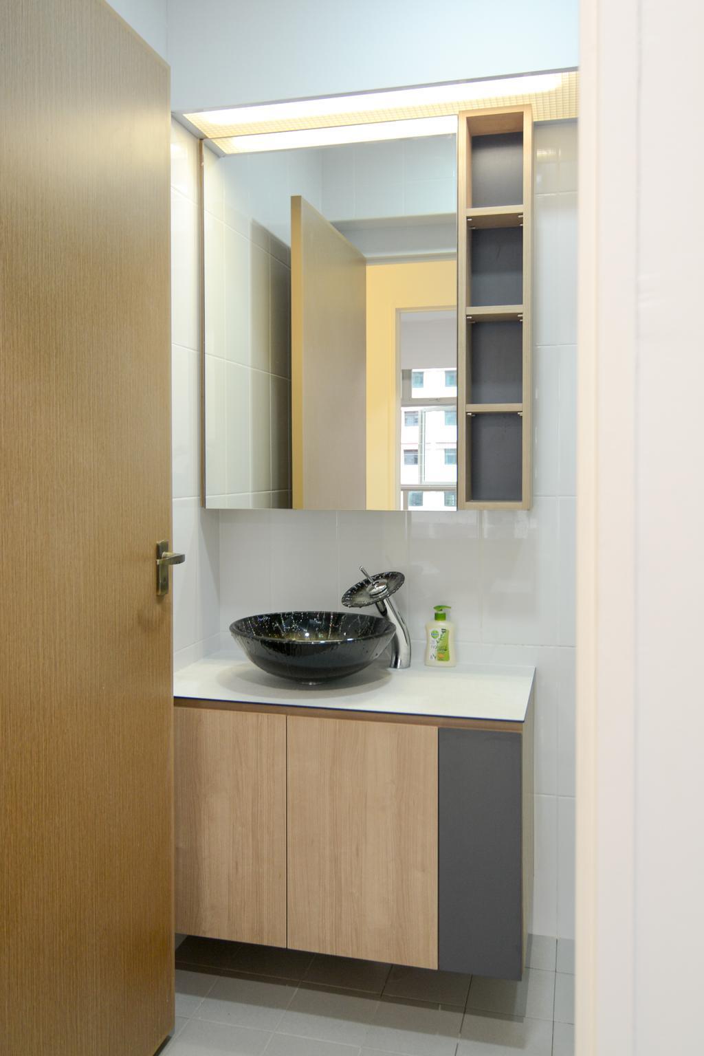 Contemporary, HDB, Bathroom, Compassvale Drive (Block 217A), Interior Designer, Anhans Interior Design