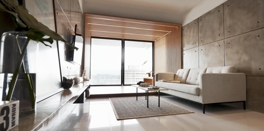 Minimalist, Condo, Living Room, TT Apartment, Architect, 0932 Design Consultants, HDB, Building, Housing, Indoors, Loft, Room, Furniture, Studio Couch