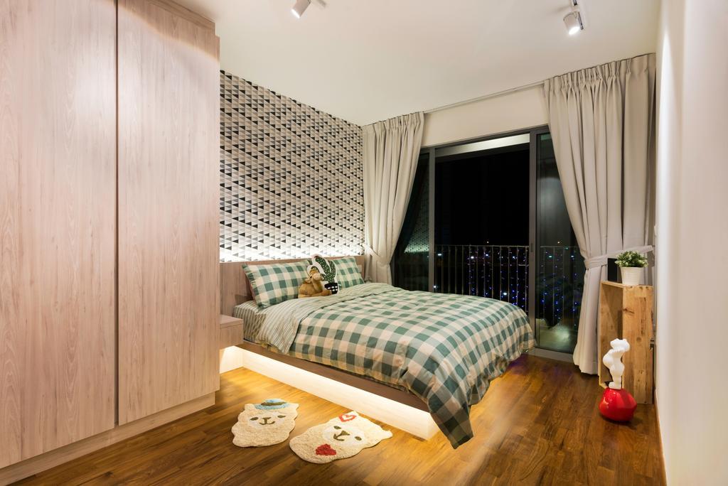 Scandinavian, HDB, Bedroom, Punggol Way (Block 316B), Interior Designer, Fineline Design, Indoors, Interior Design, Room, Building, Housing