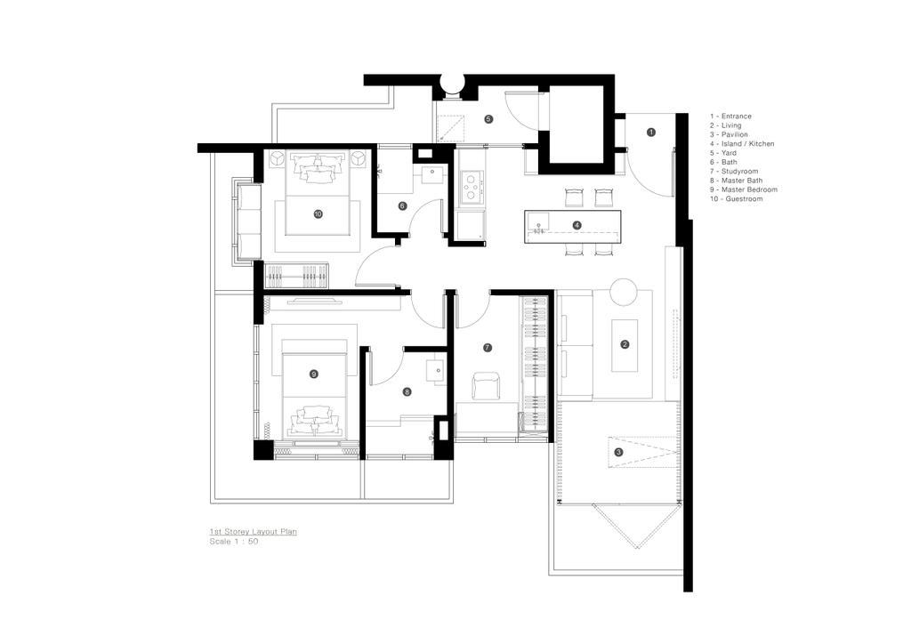 Minimalistic, Condo, TT Apartment, Architect, 0932 Design Consultants, Floor Plan, Diagram, Plan