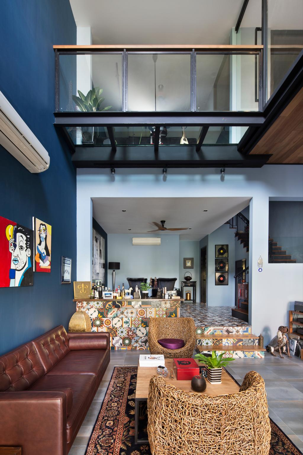 Eclectic, Landed, Eastwood Green, Interior Designer, The Scientist, HDB, Building, Housing, Indoors, Loft, Shelf, Dining Room, Interior Design, Room, Dining Table, Furniture, Table
