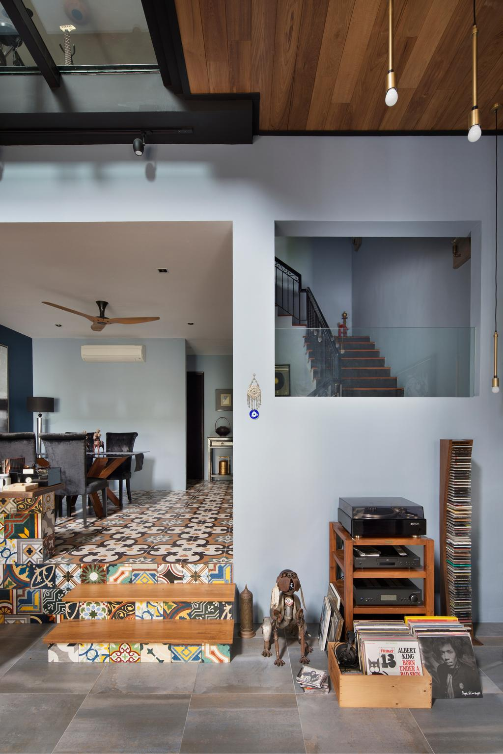 Eclectic, Landed, Eastwood Green, Interior Designer, The Scientist, Dining Room, Indoors, Interior Design, Room, Banister, Handrail, Staircase