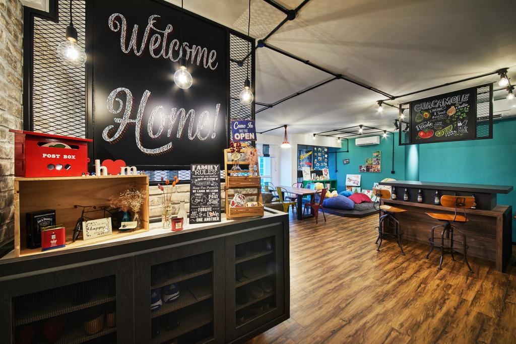 Scandinavian, HDB, Living Room, Edgedale Plains, Interior Designer, The Local INN.terior 新家室, Industrial, Deli, Food, Shop, Hardwood, Wood