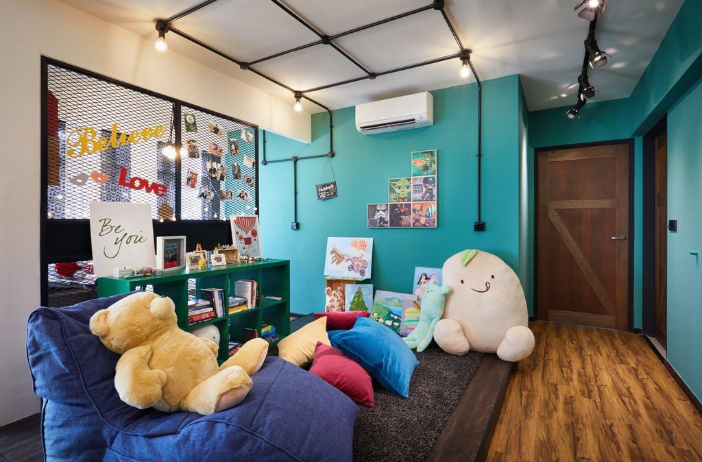 Scandinavian, HDB, Bedroom, Edgedale Plains, Interior Designer, The Local INN.terior 新家室, Industrial, Couch, Furniture