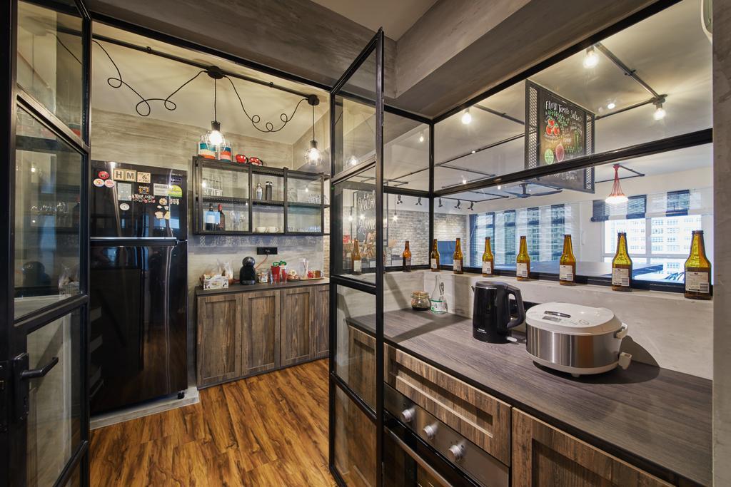 Scandinavian, HDB, Kitchen, Edgedale Plains, Interior Designer, The Local INN.terior 新家室, Industrial