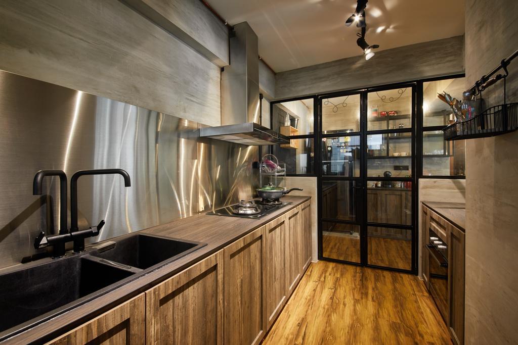 Scandinavian, HDB, Kitchen, Edgedale Plains, Interior Designer, The Local INN.terior 新家室, Industrial, Sink