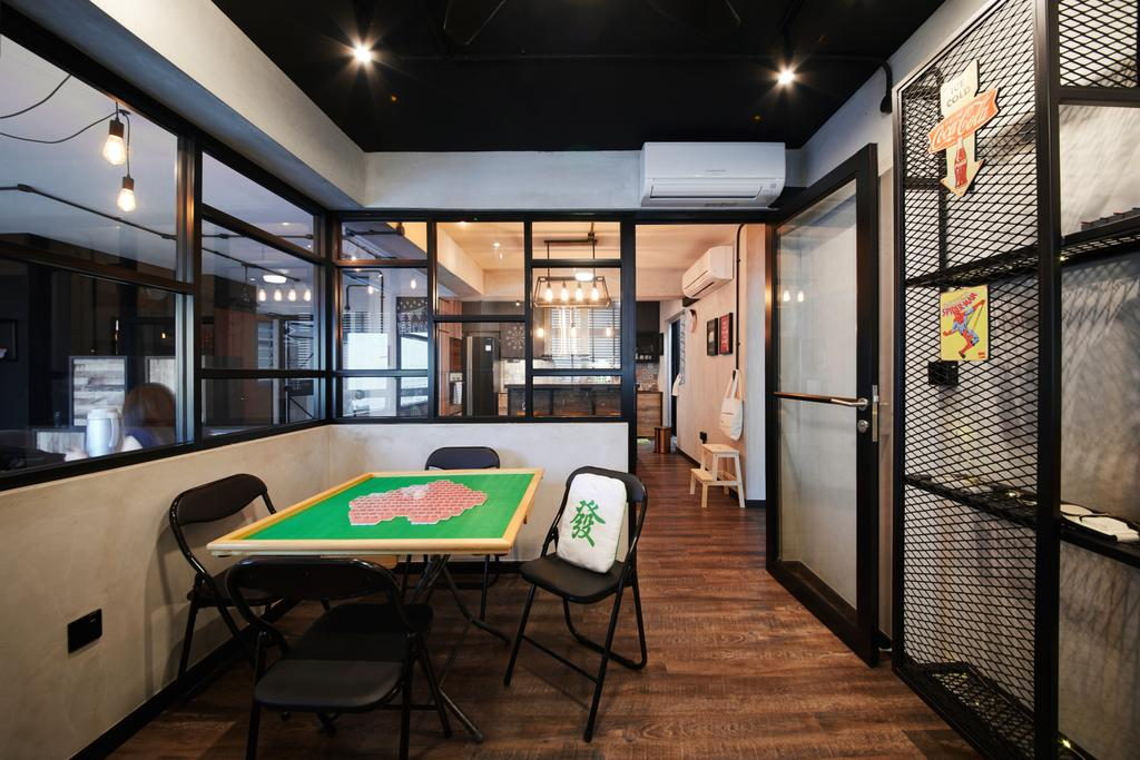 Industrial, HDB, Study, Tampines, Interior Designer, The Local INN.terior 新家室, Chair, Furniture