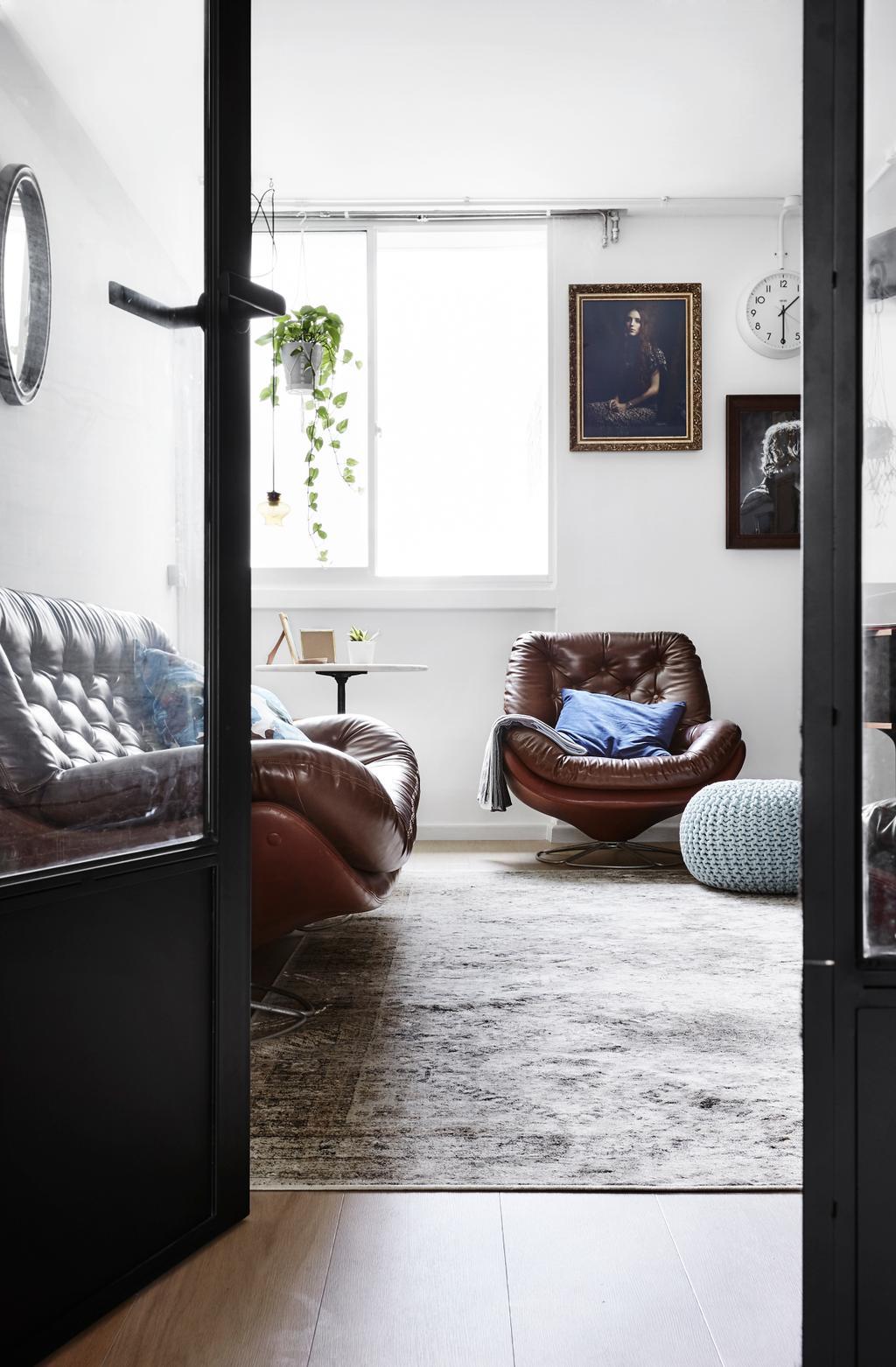 Transitional, HDB, Study, Ubi Avenue, Interior Designer, Third Avenue Studio, Chair, Furniture, Couch, Bedroom, Indoors, Interior Design, Room