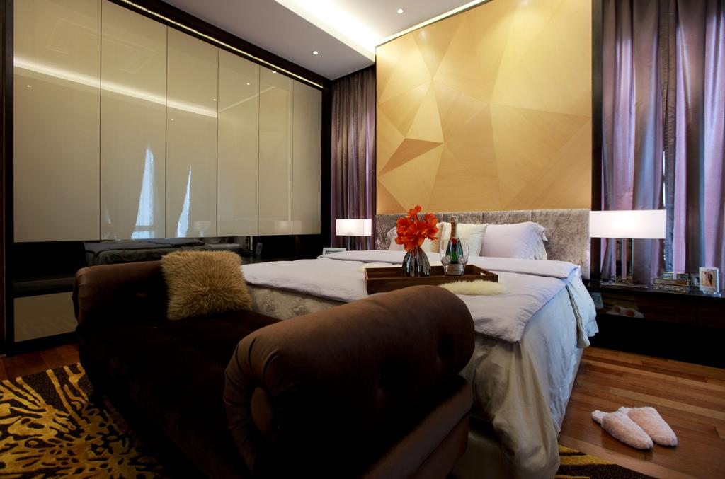 Contemporary, Landed, Bedroom, Gan One Legenda Residence, Interior Designer, Turn Design Interior, Couch, Furniture, Indoors, Interior Design, Room