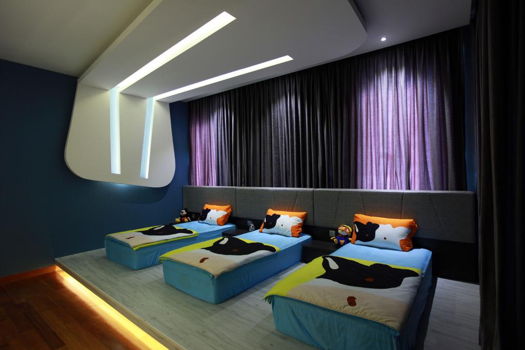 Contemporary, Landed, Bedroom, Gan One Legenda Residence, Interior Designer, Turn Design Interior, Bed, Furniture