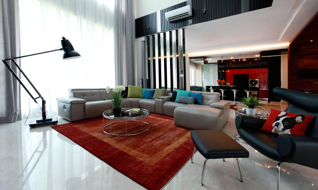 Contemporary, Landed, Living Room, Gan One Legenda Residence, Interior Designer, Turn Design Interior, Flora, Jar, Plant, Potted Plant, Pottery, Vase, Chair, Furniture, Corridor, Couch, Indoors, Room