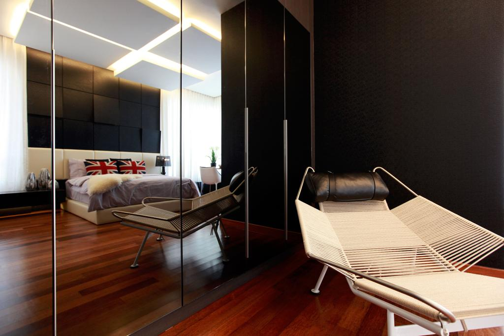 Contemporary, Landed, Bedroom, Gan One Legenda Residence, Interior Designer, Turn Design Interior, Closet, Furniture, Wardrobe, Chair
