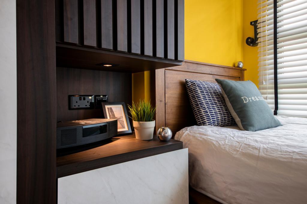 Scandinavian, HDB, Bedroom, Waterway Brooks (Block 677D), Interior Designer, M3 Studio, Industrial
