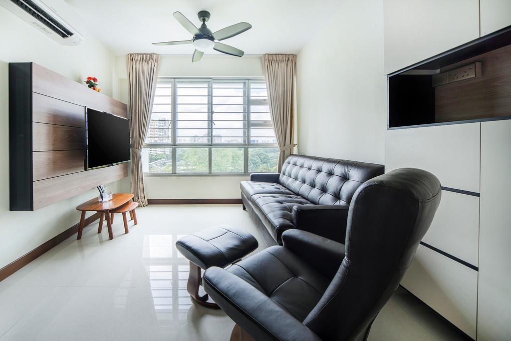 Modern, HDB, Jalan Tenteram (Block 117A), Interior Designer, Cozy Ideas Interior Design, Couch, Furniture, Dining Table, Table