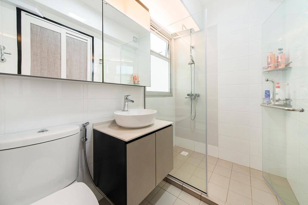 Modern, HDB, Bathroom, Jalan Tenteram (Block 117A), Interior Designer, Cozy Ideas Interior Design, Indoors, Interior Design, Room, Kitchen