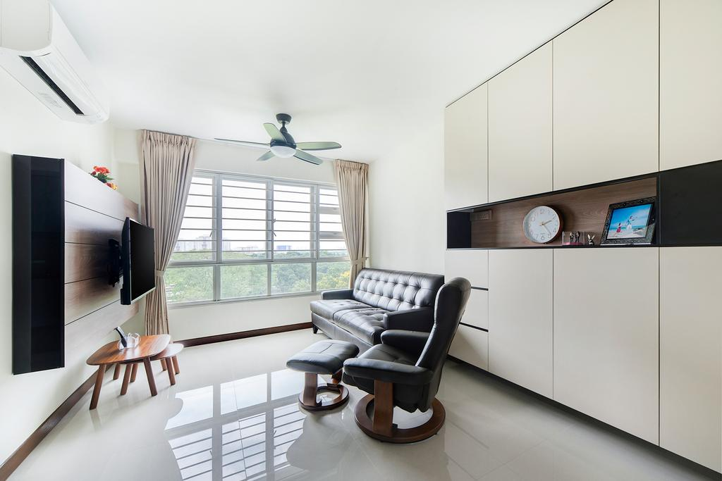 Modern, HDB, Living Room, Jalan Tenteram (Block 117A), Interior Designer, Cozy Ideas Interior Design, Dining Table, Furniture, Table, Chair