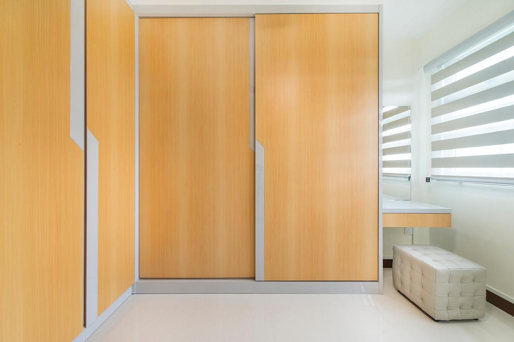 Modern, HDB, Bedroom, Jalan Tenteram (Block 117A), Interior Designer, Cozy Ideas Interior Design, Furniture, Ottoman, Molding