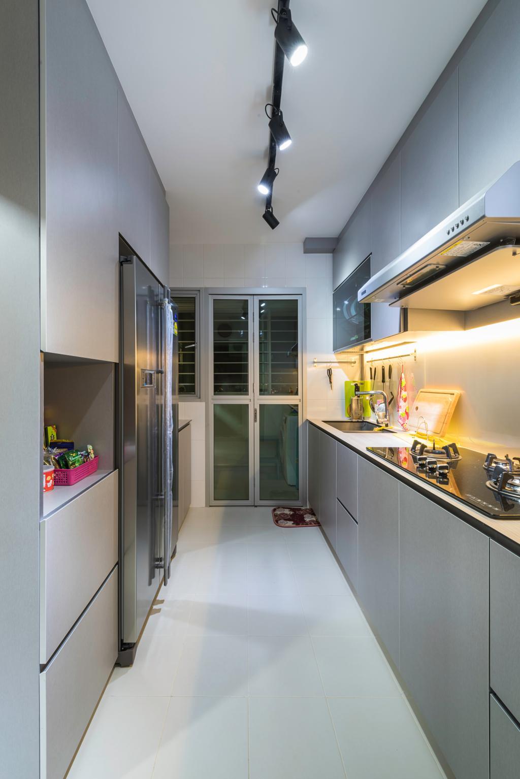Scandinavian, HDB, Kitchen, Clementi Avenue 4 (Block 312C), Interior Designer, IdeasXchange, Traditional, Sink