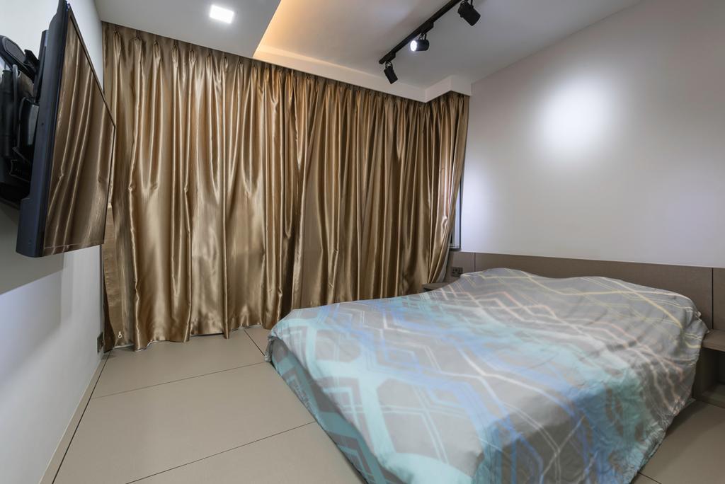 Scandinavian, HDB, Bedroom, Clementi Avenue 4 (Block 312C), Interior Designer, IdeasXchange, Traditional, Bed, Furniture, Indoors, Interior Design, Room