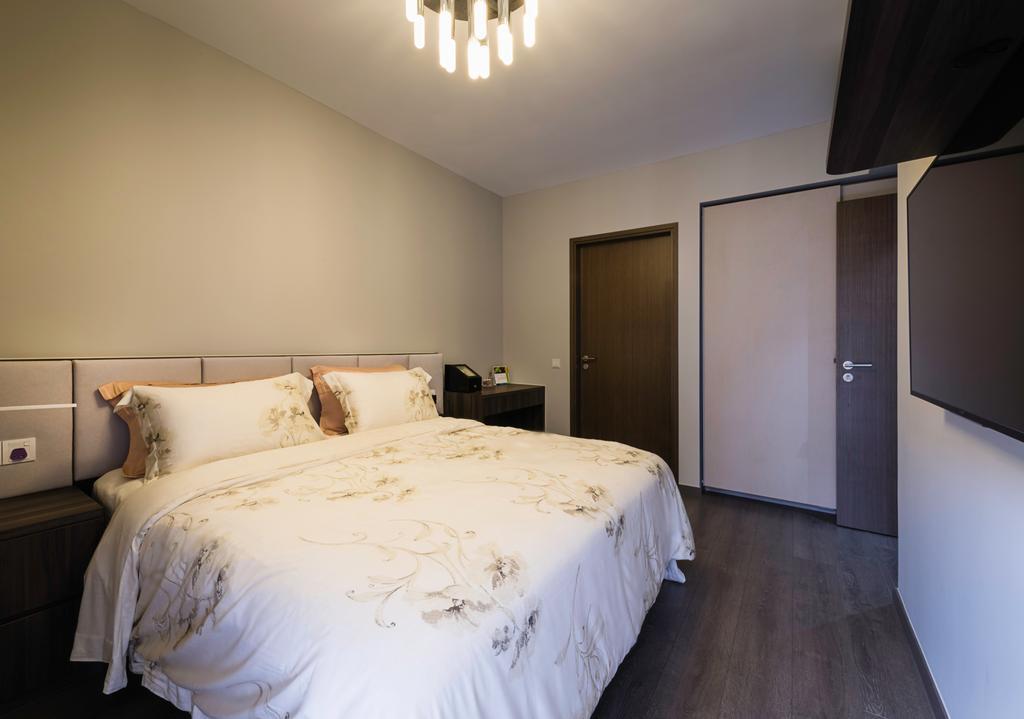 Contemporary, Condo, Bedroom, Ecopolitan, Interior Designer, IdeasXchange, Bed, Furniture, Indoors, Interior Design, Room, HDB, Building, Housing, Loft