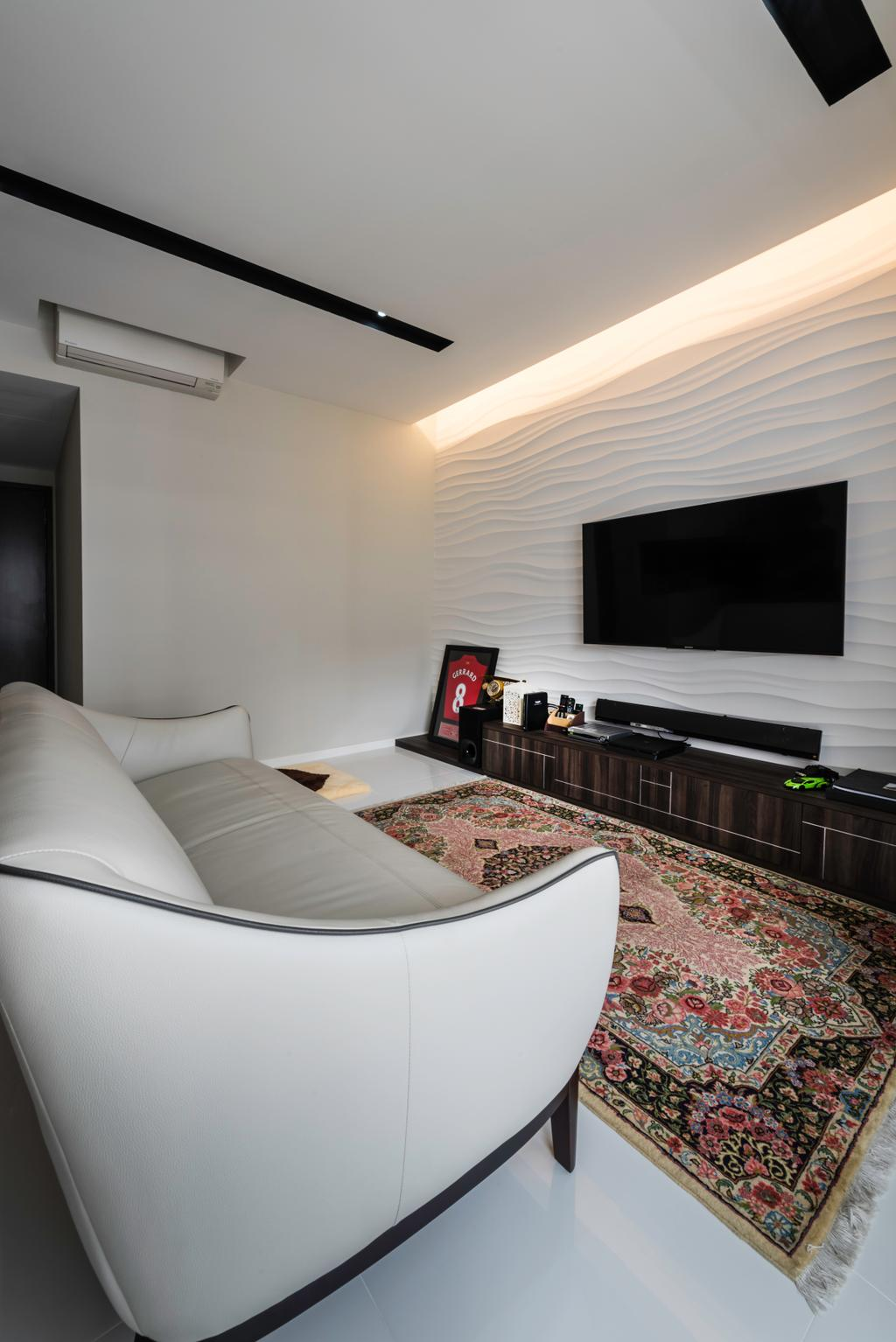 Contemporary, Condo, Living Room, Ecopolitan, Interior Designer, IdeasXchange, Couch, Furniture, Fireplace, Hearth, Indoors, Room