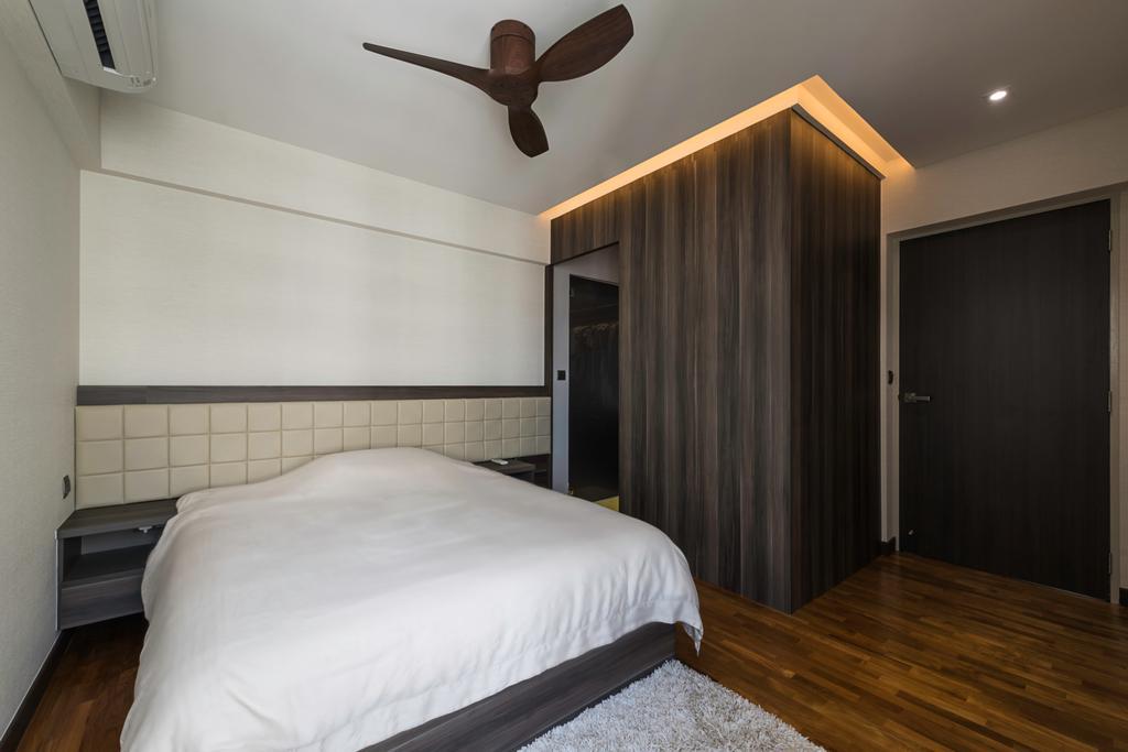 Modern, HDB, Bedroom, Fernvale Road (Block 410C), Interior Designer, IdeasXchange, Contemporary, Molding, Appliance, Electrical Device, Oven, Lighting, Building, Housing, Indoors, Loft, Interior Design, Room