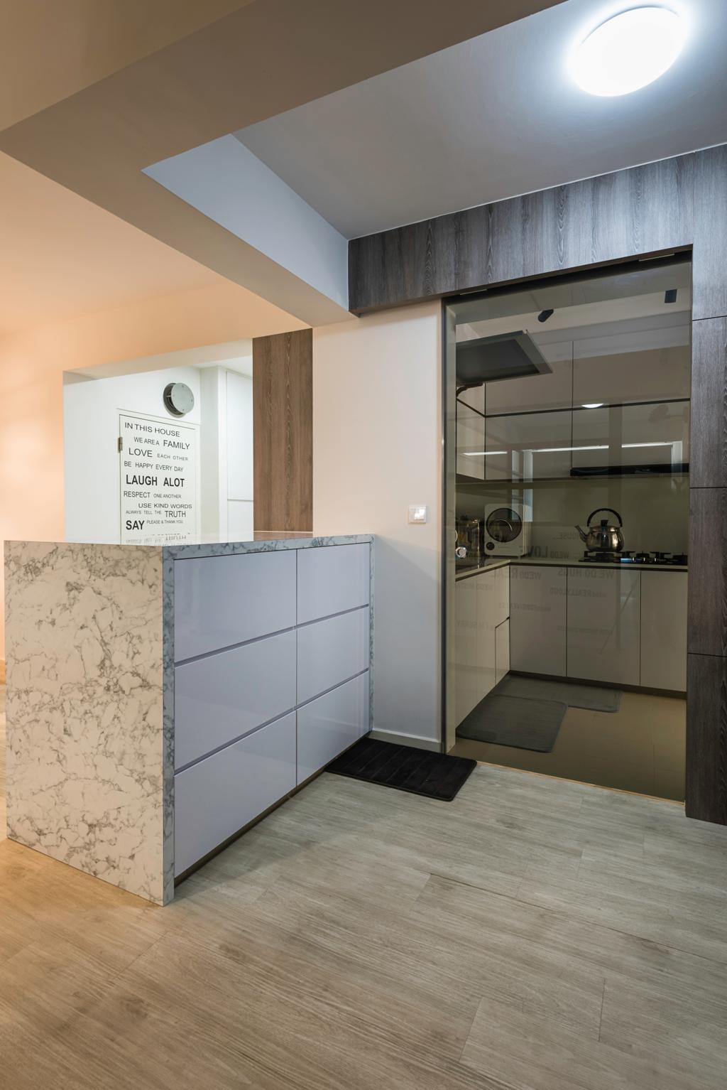 Modern, HDB, Kitchen, Sumang Walk (Block 217C), Interior Designer, IdeasXchange