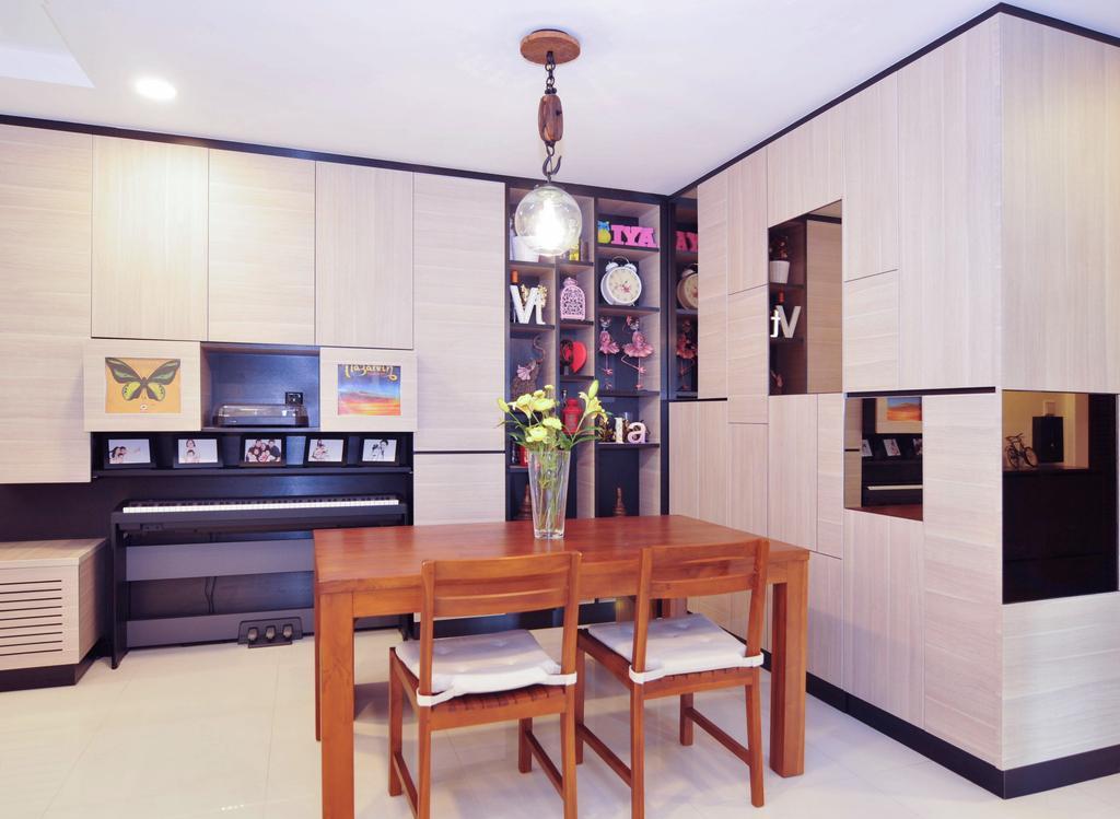 Minimalistic, HDB, Dining Room, The Pinnacle@Duxton, Interior Designer, Seven Heaven, Indoors, Interior Design, Room, Dining Table, Furniture, Table, Chair, Sideboard