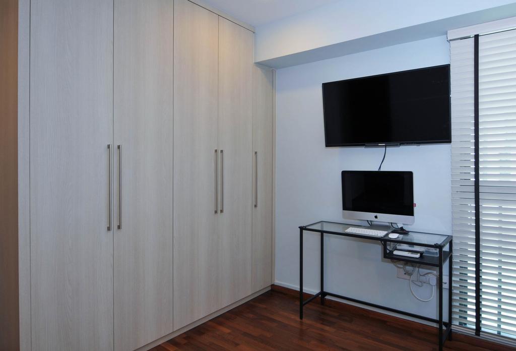 Minimalistic, HDB, Bedroom, The Pinnacle@Duxton, Interior Designer, Seven Heaven, Electronics, Lcd Screen, Monitor, Screen