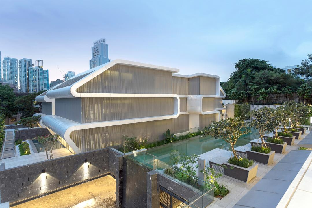 Oxley Residence, LAUD Architects, Contemporary, Landed, Flora, Jar, Plant, Planter, Potted Plant, Pottery, Vase, Building, Housing, Office Building, Garden, Gardening, Outdoors
