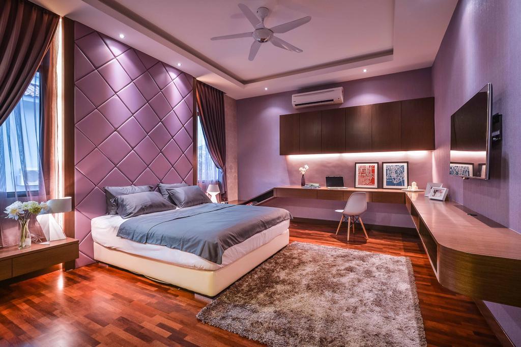 Modern, Landed, Bedroom, Setia Eco Park, Interior Designer, Surface R Sdn. Bhd., Indoors, Interior Design, Room
