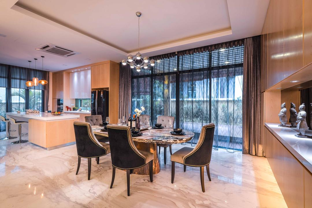 Setia Eco Park, Surface R Sdn. Bhd., Modern, Dining Room, Landed, Chair, Furniture, Grand Piano, Leisure Activities, Music, Musical Instrument, Piano, Couch, Indoors, Interior Design, Room