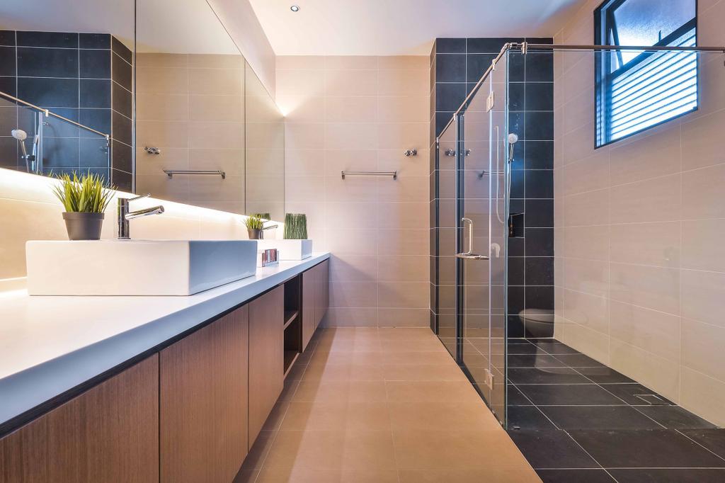 Modern, Landed, Bathroom, Setia Eco Park, Interior Designer, Surface R Sdn. Bhd., Flora, Jar, Plant, Potted Plant, Pottery, Vase, Floor
