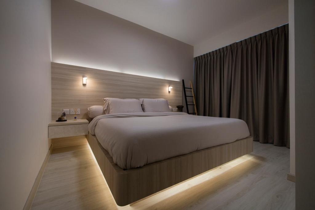 Modern, HDB, Bedroom, Jalan Tenteram (Block 117B), Interior Designer, Space Define Interior, Scandinavian, Bed, Furniture