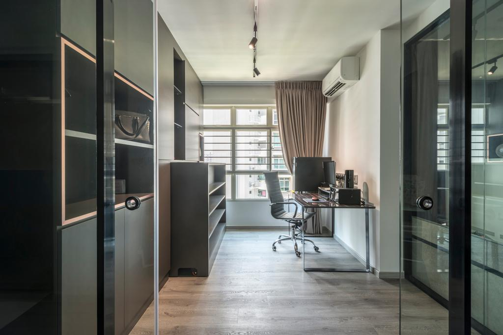 Industrial, HDB, Study, Compassvale Drive (Block 217A), Interior Designer, Butler Interior, Indoors, Interior Design