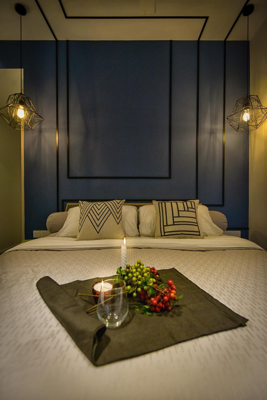 Contemporary, Condo, Bedroom, Glomac Damansara, Interior Designer, Dot Works, Indoors, Room, Bed, Furniture