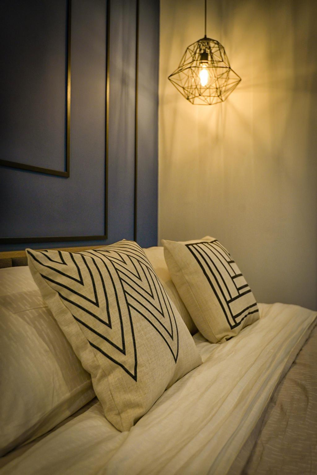 Contemporary, Condo, Bedroom, Glomac Damansara, Interior Designer, Dot Works, Wall