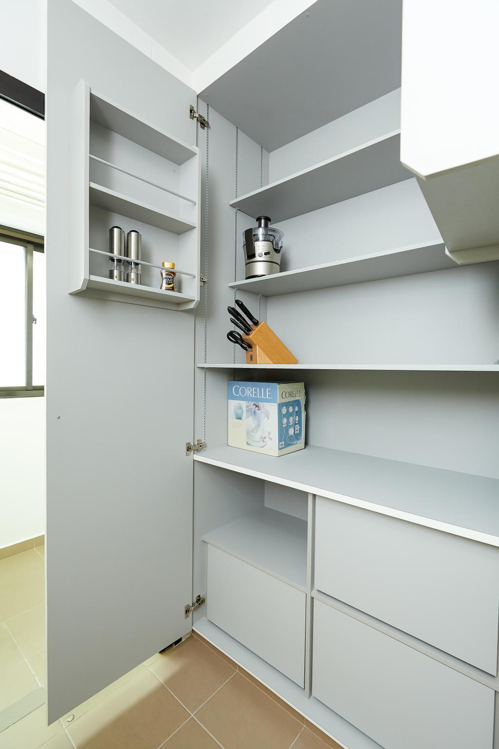Minimalistic, HDB, Kitchen, Senja, Interior Designer, Space Atelier