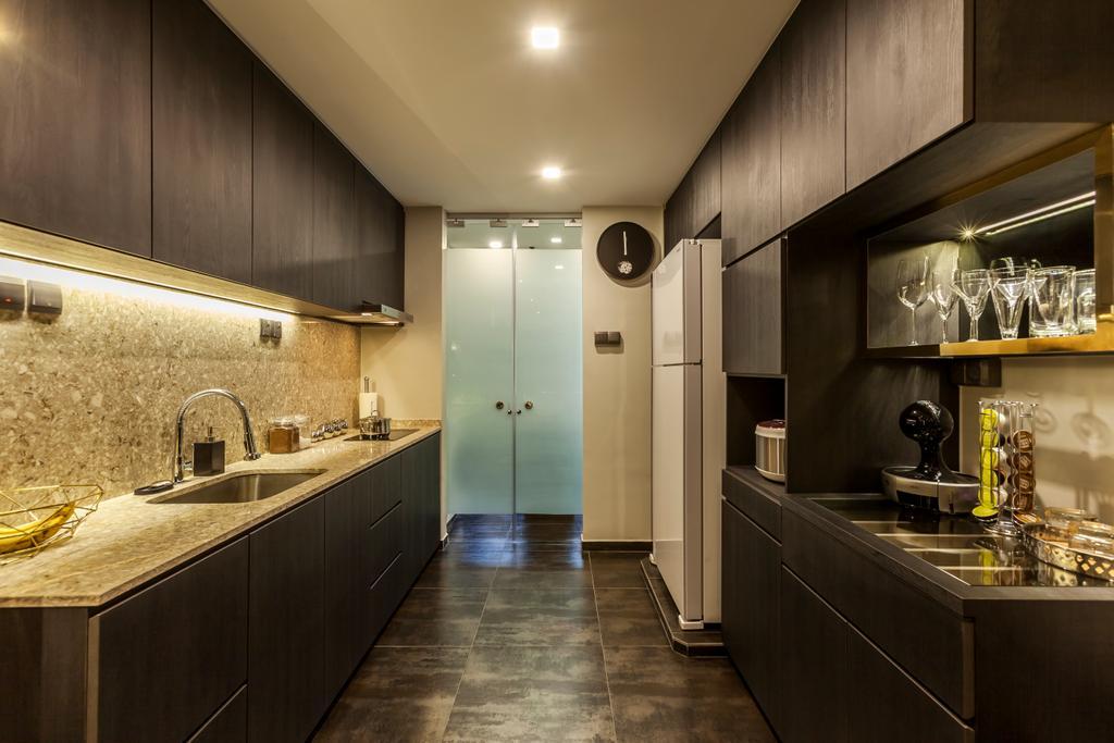 Modern, HDB, Kitchen, Lorong Liew Lian, Interior Designer, The Interior Lab, Contemporary, Plywood, Wood, Furniture, Reception, Reception Desk, Table