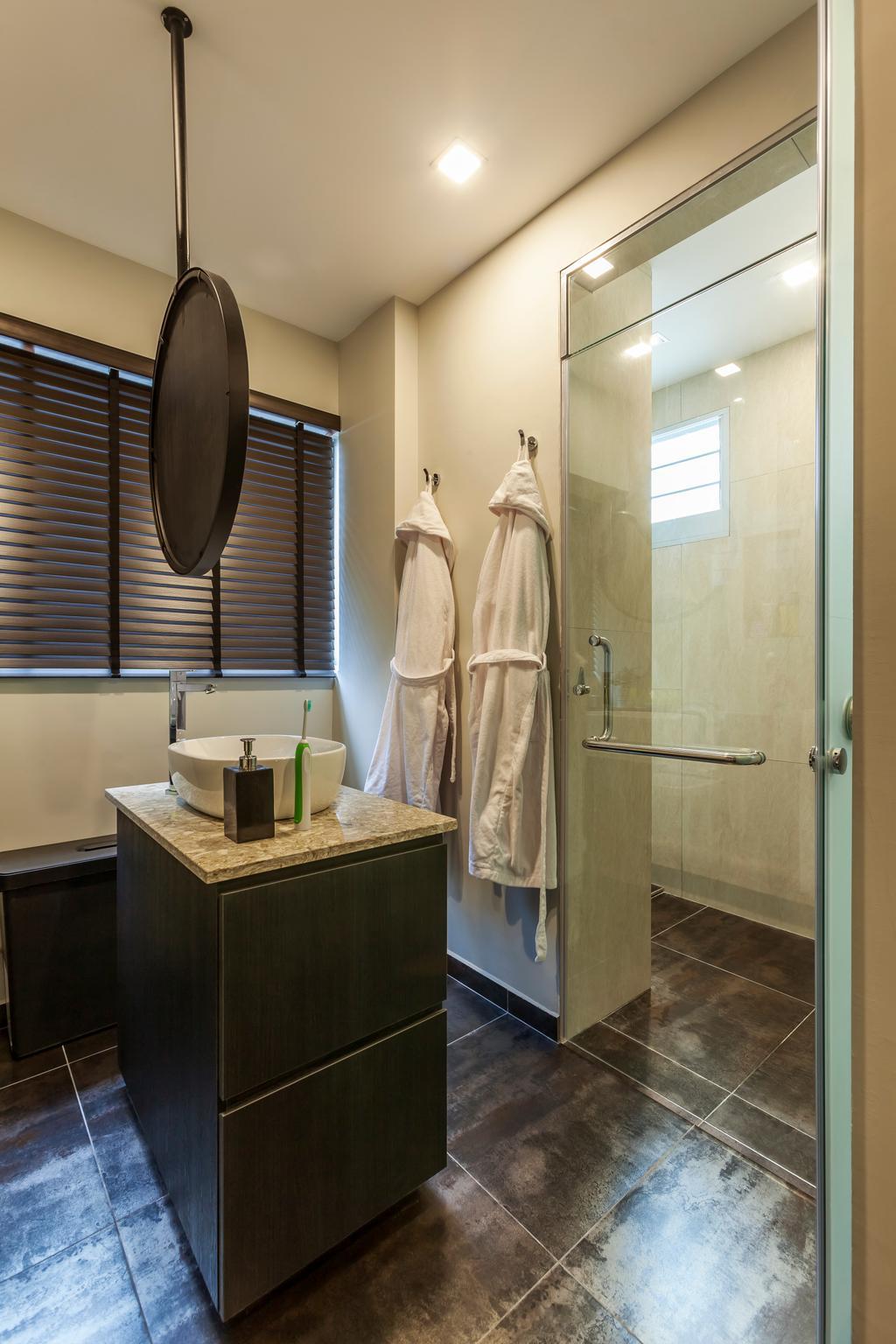Modern, HDB, Bathroom, Lorong Liew Lian, Interior Designer, The Interior Lab, Contemporary, Shower, Indoors, Interior Design, Room, Hardwood, Stained Wood, Wood